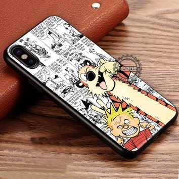 BFF Calvin and Hobbes Cartoon iPhone X 8 7 Plus 6s Cases Samsung Galaxy S8 Plus S7 edge NOTE 8 Covers #iphoneX #SamsungS8