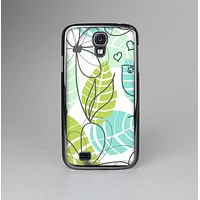 The Green & Blue Subtle Seamless Leaves Skin-Sert Case for the Samsung Galaxy S4