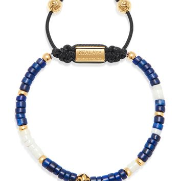 The Heishi Bead Collection - Blue, White and Gold