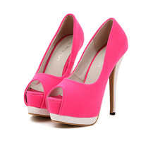 Neon Open Toe Summer Heels Women Shoes Stilettos