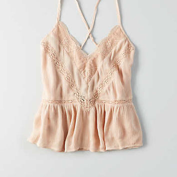 AEO Ruched Swing Tank , Blush