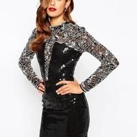 ASOS | ASOS RED CARPET High Neck Embellished Bodycon Dress at ASOS