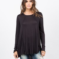 Exposed Seams Tunic Top