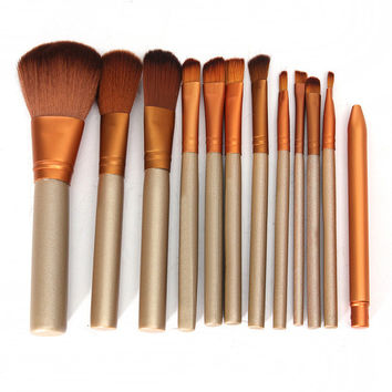 12pcs Full Set Women Makeup Brush Kit Superior Professional Soft Cosmetic Brushes Face Eyes Blush Brush Set for Women