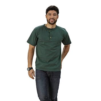 Adult Short Sleeve Henley Classic Fit