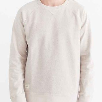 Native Youth Multi Flecked Raglan Crew Neck Sweatshirt- Cream