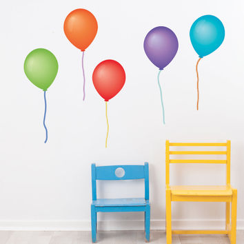 Balloon Wall Decals, Eco-Friendly Removable and Reusable Peel and Stick Colorful Party Decorations