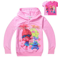 girls clothes Trolls Poppy Magic cartoon printed tee baby boy ruffle raglan new year spring summer t-shirt children shirts top