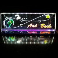 ToThe Moon and Back LED lighted  decoration  room mood light night light small panel with inline switch