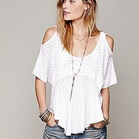 Free People  Dreamy Date Cold Shoulder Top at Free People Clothing Boutique