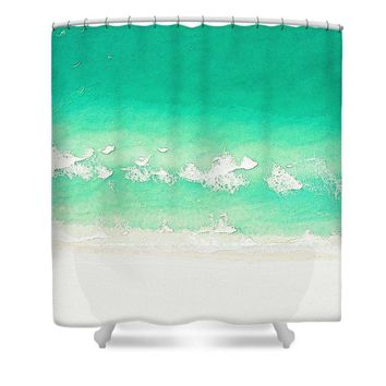 Summer Breezes Watercolor Art By Adam Asar - Asar Studios - Shower Curtain