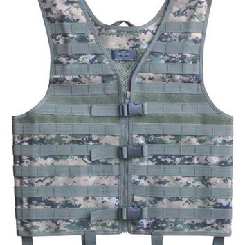 Mens Airsoft Tactical Vest Military Molle Vest Sport Modular Combat Gear