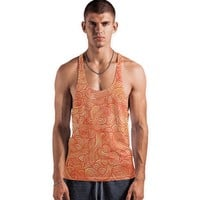 'Orange and red swirls doodles' Vests by Savousepate on miPic