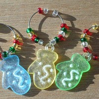 Christmas Wine Glass Charms Christmas in ....  May