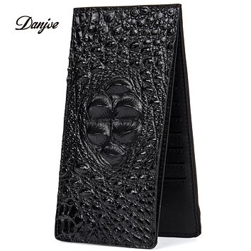 Genuine Leather Daily Man Clutches Bag High Quality Men Wallet Large Capacity Business Casual Bag Alligator Pattern