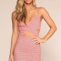 Criss Cross Gingham Dress
