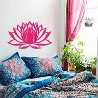Wall Decal Lotus Flower Namaste Symbol Vinyl Sticker Murals Yoga Zen Bohemian Meditation Buddha  Art Room Bedroom Decal M-87