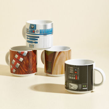 The Pours Will Be With You, Always Mug Set | Mod Retro Vintage Kitchen | ModCloth.com