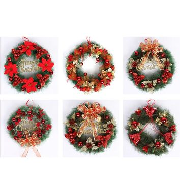 Christmas Decorations For Home Gifts For The New Year Party Leaf Fall Door Wreath Door Wall Ornament Thanksgiving Day 2019