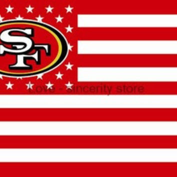 NFL San Francisco 49ers Flag 3' x 5' Stars & Stripes Banner