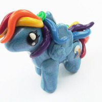 Rainbow Dash My Little Pony Figure par WTFcharms sur Etsy