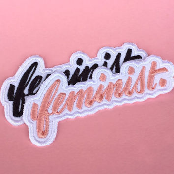 Big F, Little F, the feminist embroidered patch