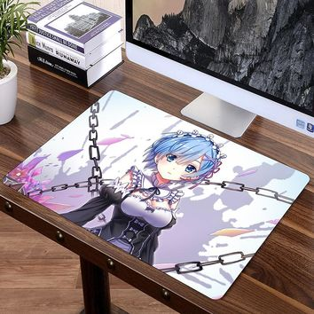 FFFAS Big 60x40cm XL Japan Anime Mousepad Game Gamer Gaming Mouse Pad Best Wife Girl Friend Sister RE Rem Ram Emilia Korea Large