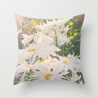 Marguerites Throw Pillow by MJB photo design