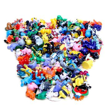 144pcs  Figures Pikachu Action Figure Kids Toys for Children Birthday Christmas gifts 2-3 cmKawaii Pokemon go  AT_89_9