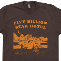 Five Billion Star Hotel T Shirt Funny Vintage Camping T Shirts
