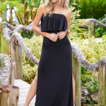 Tropical Black Dress