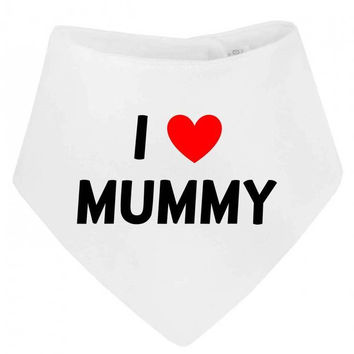 I Love (Heart) Mummy Cute Bandana  Baby Bib