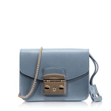 Furla Metropolis Dolomia Leather Mini Crossbody Bag