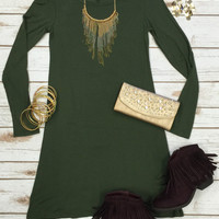 Easy Does it Dress: Olive