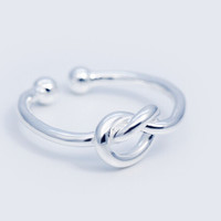925 sterling silver simple weave of love opening ring,personalized simple love ring,a perfect gift