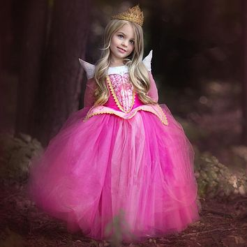 Hot sale halloween costumes for children girls birthday party dress princess costume