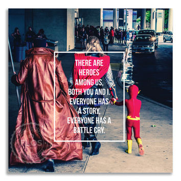 11x14 Print Wall Art Comic Book Heroes Quote Wall Decor Signed Photography Poetry
