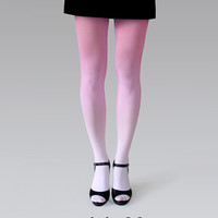 Ombre (gradient) tights pale pink to pink