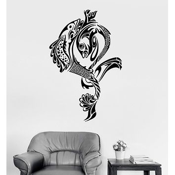 Vinyl Wall Decal Fish Fishing Fisherman Art Stickers Mural Unique Gift (446ig)