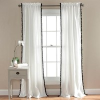 Pom Pom Window Curtains - Walmart.com