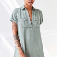BDG Washed Military Mini Shirt Dress - Urban Outfitters