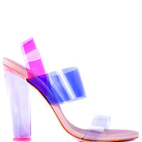 Charkviani Sara Heel In Pink Clear by Charkviani for Preorder on Moda Operandi