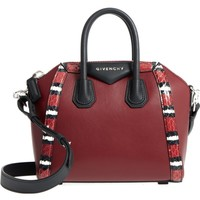 Givenchy Antigona Genuine Snakeskin & Calfskin Leather Satchel | Nordstrom