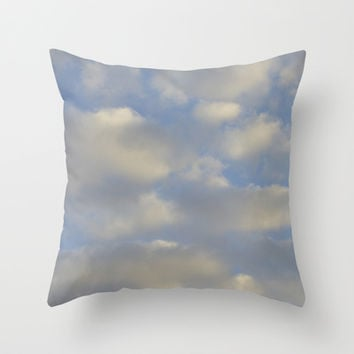 Cloudy Days Throw Pillow by Stacy Frett