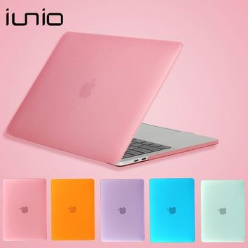 Transparent Crystal Matte Hard Case for Mac Surface Protective Laptop Case for Macbook Air 11 Case 12 inch Notbook Laptop Case