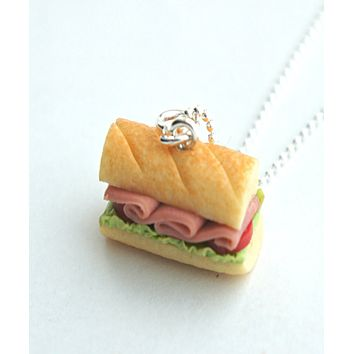 Sub Sandwich Necklace