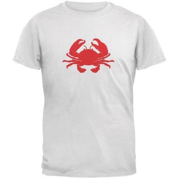 CREYCY8 Summer - Crab Faux Stitched White Youth T-Shirt