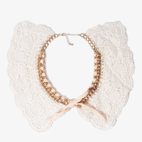 Eyelet Peter Pan Collar Necklace