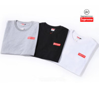 """Supreme"" Fashion Casual Digital Letter Print Short Sleeve Unisex T-shirt Couple Shirt Top Tee"