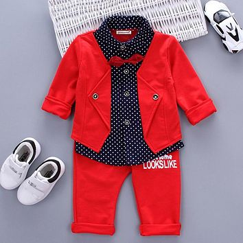 Boy Striped Clothing Set